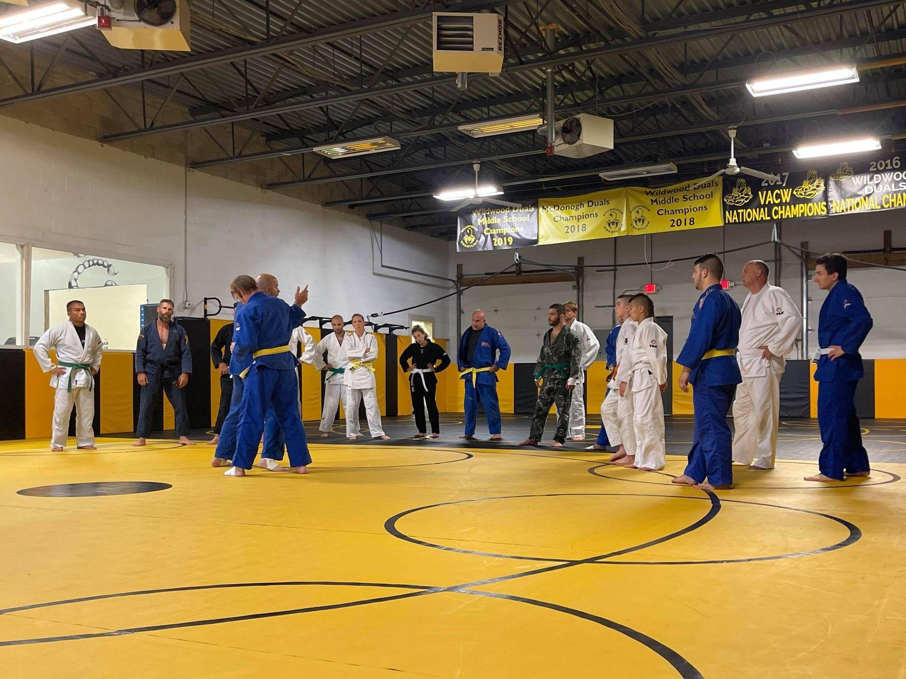 Judo Kai of Fairfield adult class with Sensei Kevin Costello
