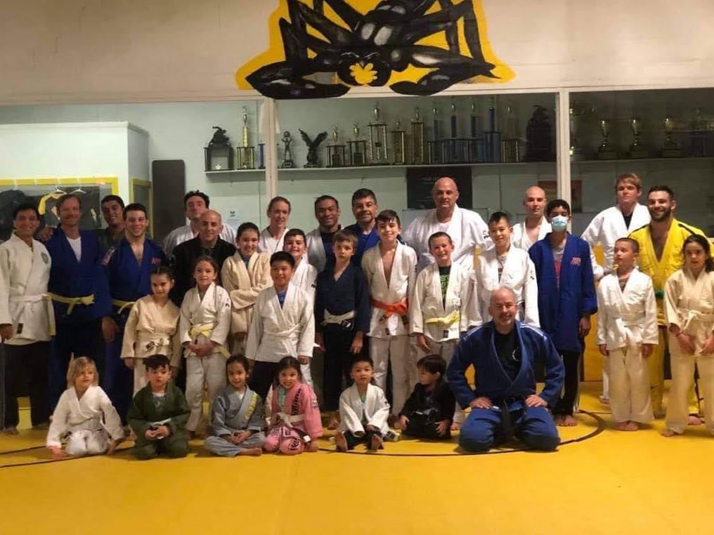 Judo Kai of Fairfield group picture with Sensei Kevin Costello
